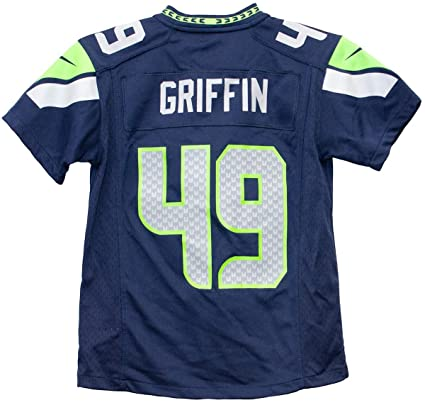 d9308d956 Nike Shaquill Griffin Seattle Seahawks Team Color Youth Game Jersey (Youth  Small 8)