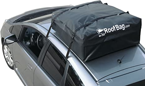 Cross Bars or No Rack Cargo Roof Bag Fits All Cars YOULERBU Rooftop Cargo Carrier Bag 16 Cubic Feet Car Roof Top Carrier Bag with Car Roof Protective Mat and Lock with Side Rails