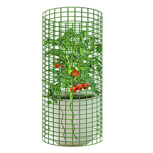 V Polo Jardín torre tomates Plant jaula pantalla para plantas ...