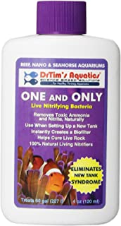 DrTims Aquatics One & Only Live Nitrifying Bacteria for Cycling Aquaria, ...