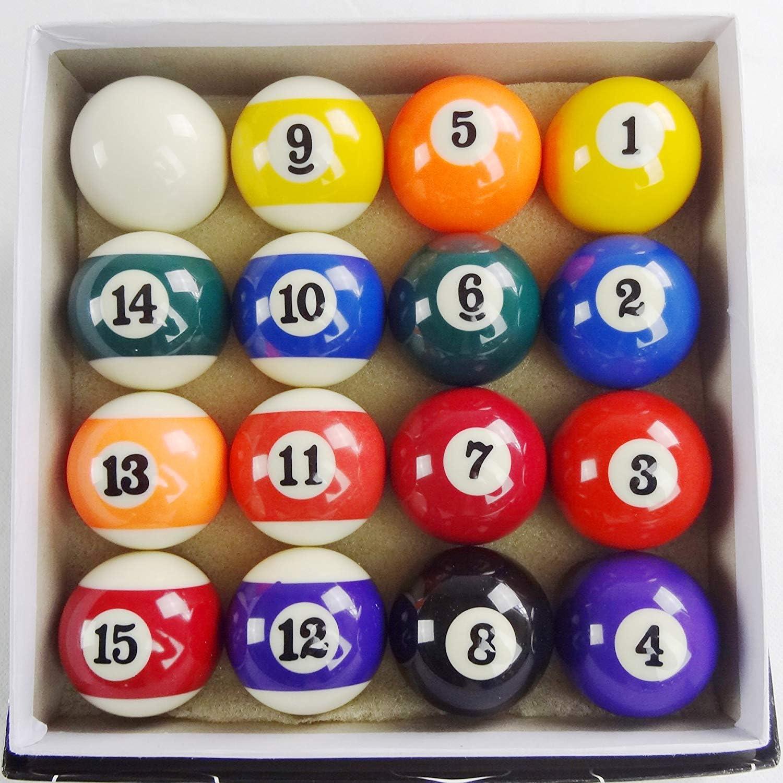 BCE Dot and Stripe - Juego de Bolas de Billar de 5 cm: Amazon.es ...