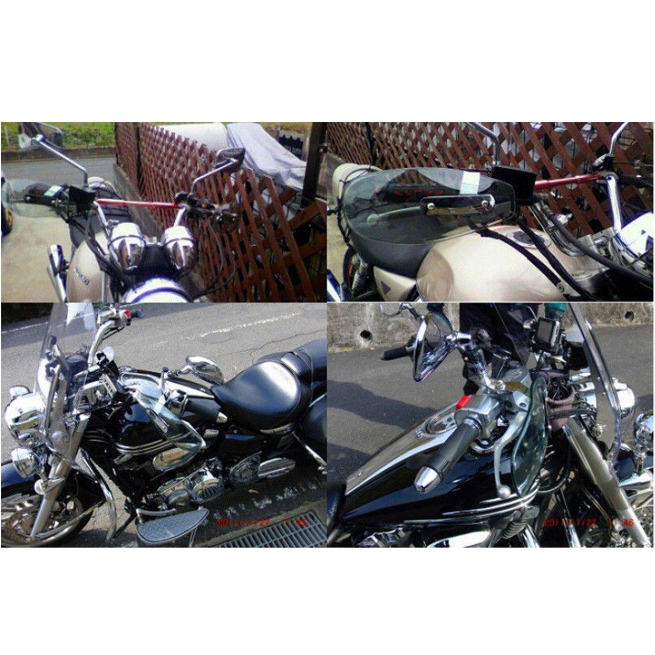 Leslaur Deflettori Antivento per paramani per paramani per Harley Honda Suzuki Cruiser