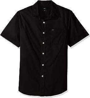 ccf38563f Obey Mens Lou Woven Short Sleeve Button Up Shirt Button-Down Shirt