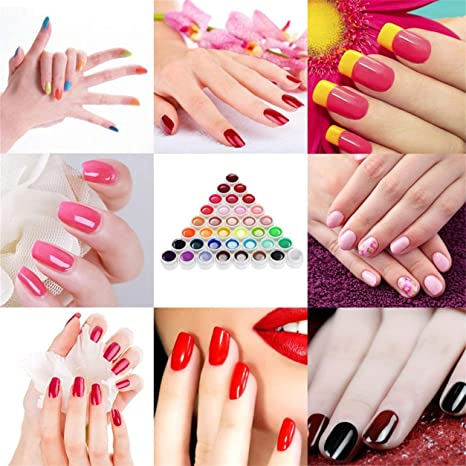 36 Pure Colors 5g Nail Art Glitter Gel ULTRAVIOLETA Acrílico Builder Adhesivo Sólido, 36 colores