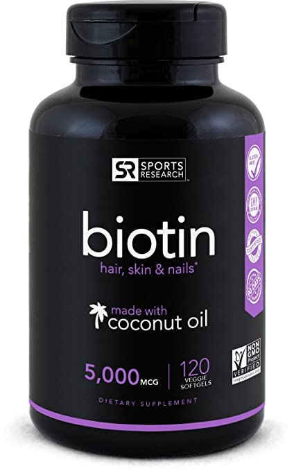 Biotin Infused With Organic Virgin Coconut Oil 5000iu