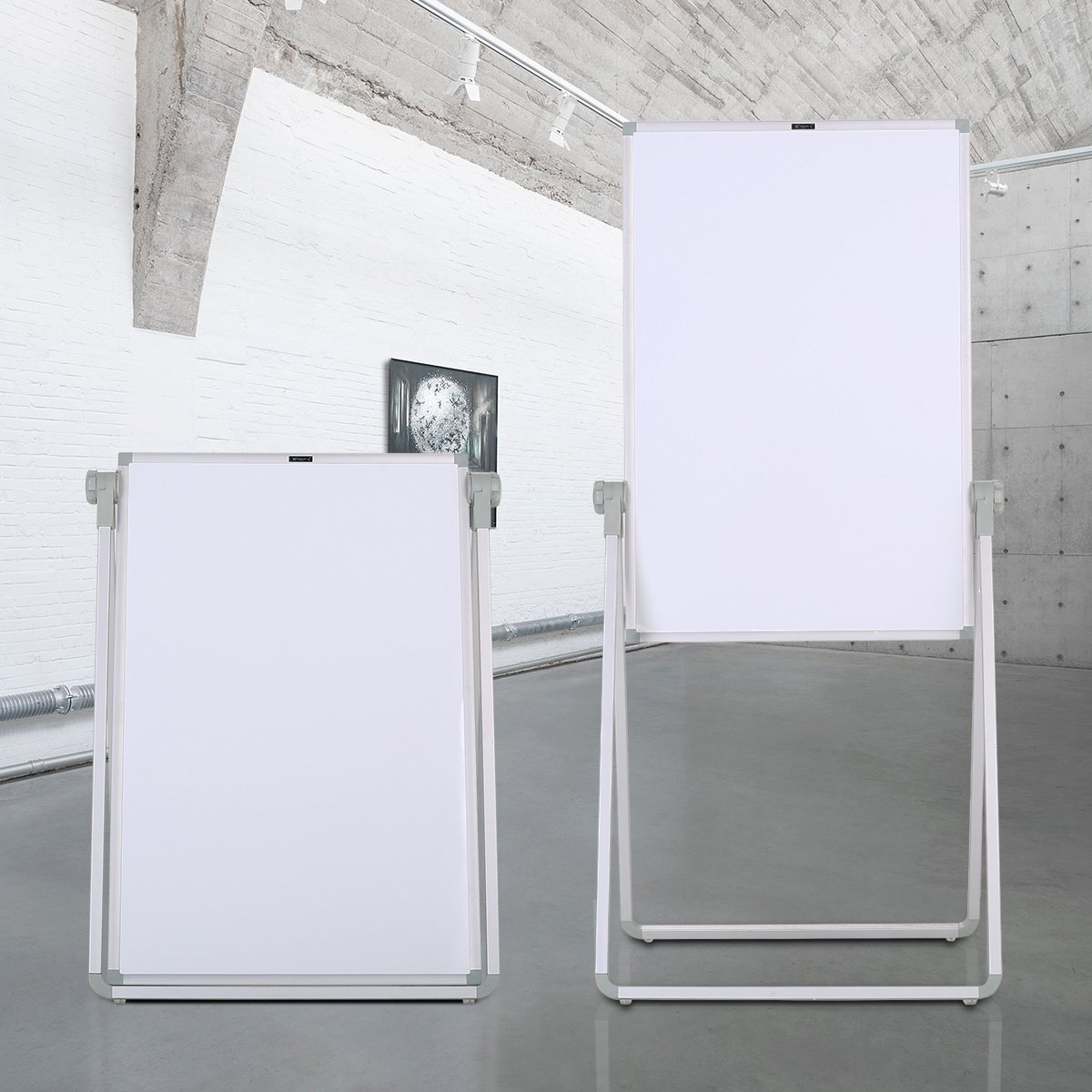 ZHIDIAN White Boards Magnetic Dry Erase Boards Stand 36×24 Inch Bulletin Board Aluminum Frame 2 Sides can Write.Highly Adjustable 360° Rotation