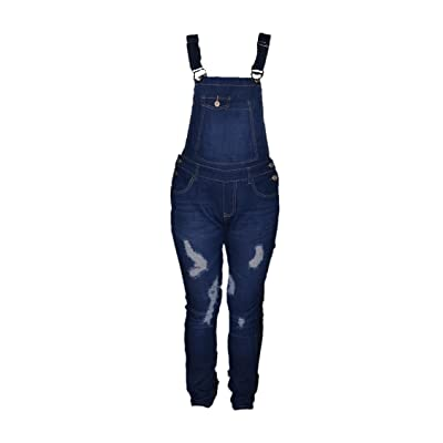 Le Lys salopette pantalon-bleu-femme ou ados