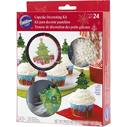 wilton christmas tree cupcake decorating kit - Christmas Tree Decorating Kits