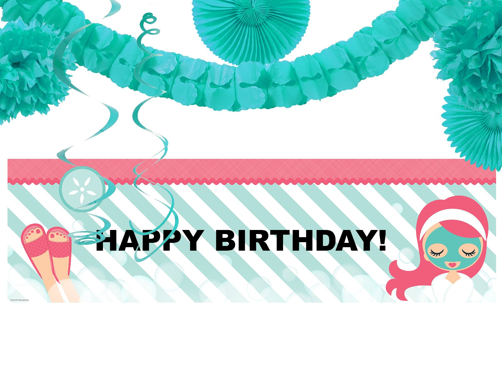 Little Spa Salon Makeover Party Supplies - Birthday Banner Decoration Kit