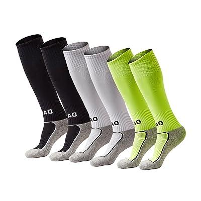 Boy & Girl Knee High Cotton Soccer Socks .Football Sport Long Socks (Kid/Youth)