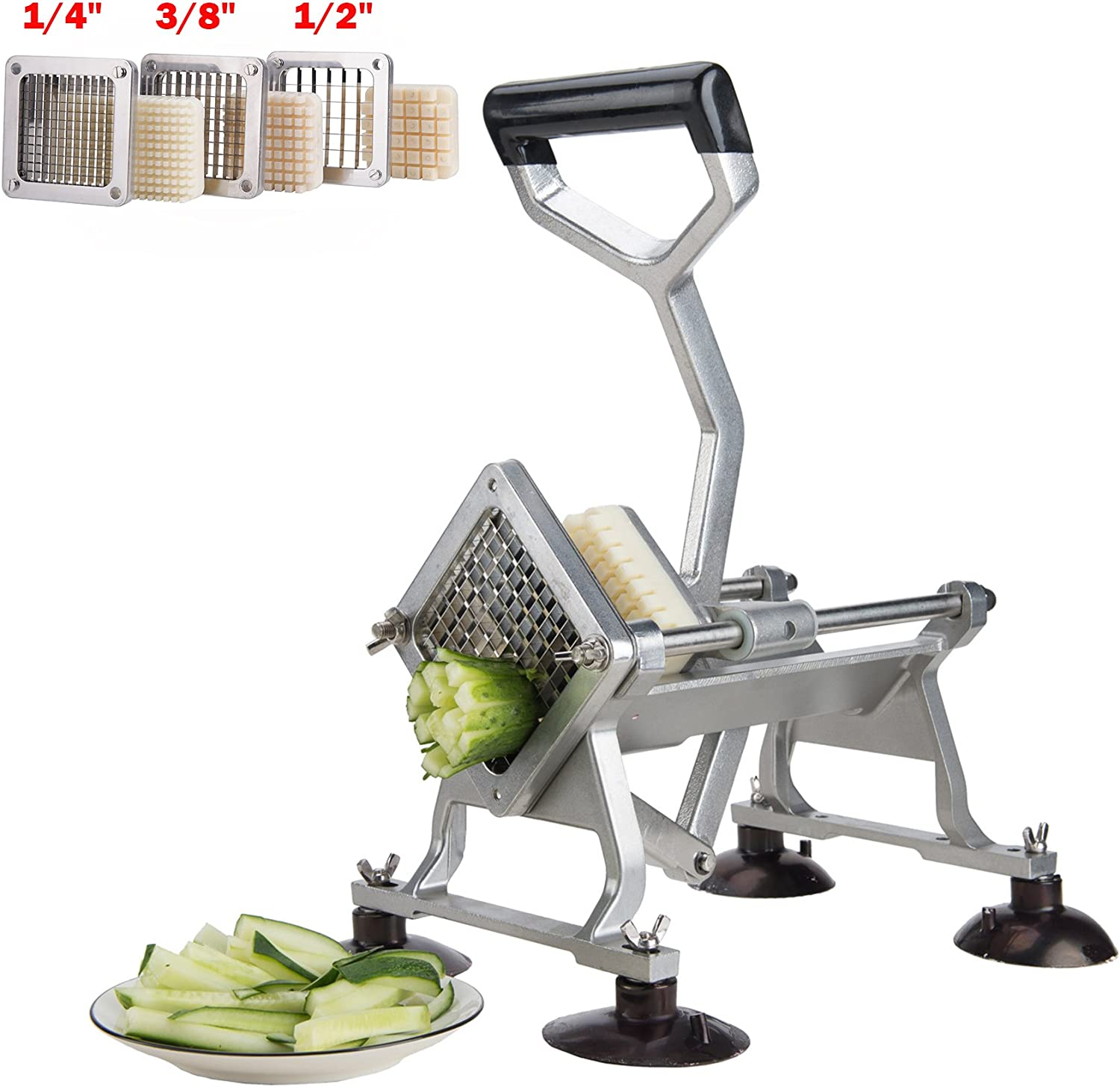 CO-Z Commercial Grade Aluminum Alloy Heavy Duty French Fry Cutter & Slicer