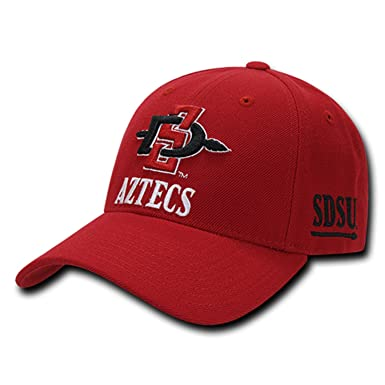b14299d78 Image Unavailable. Image not available for. Color: University of San Diego  State SDSU Aztecs Adjustable Baseball Ball Cap Hat