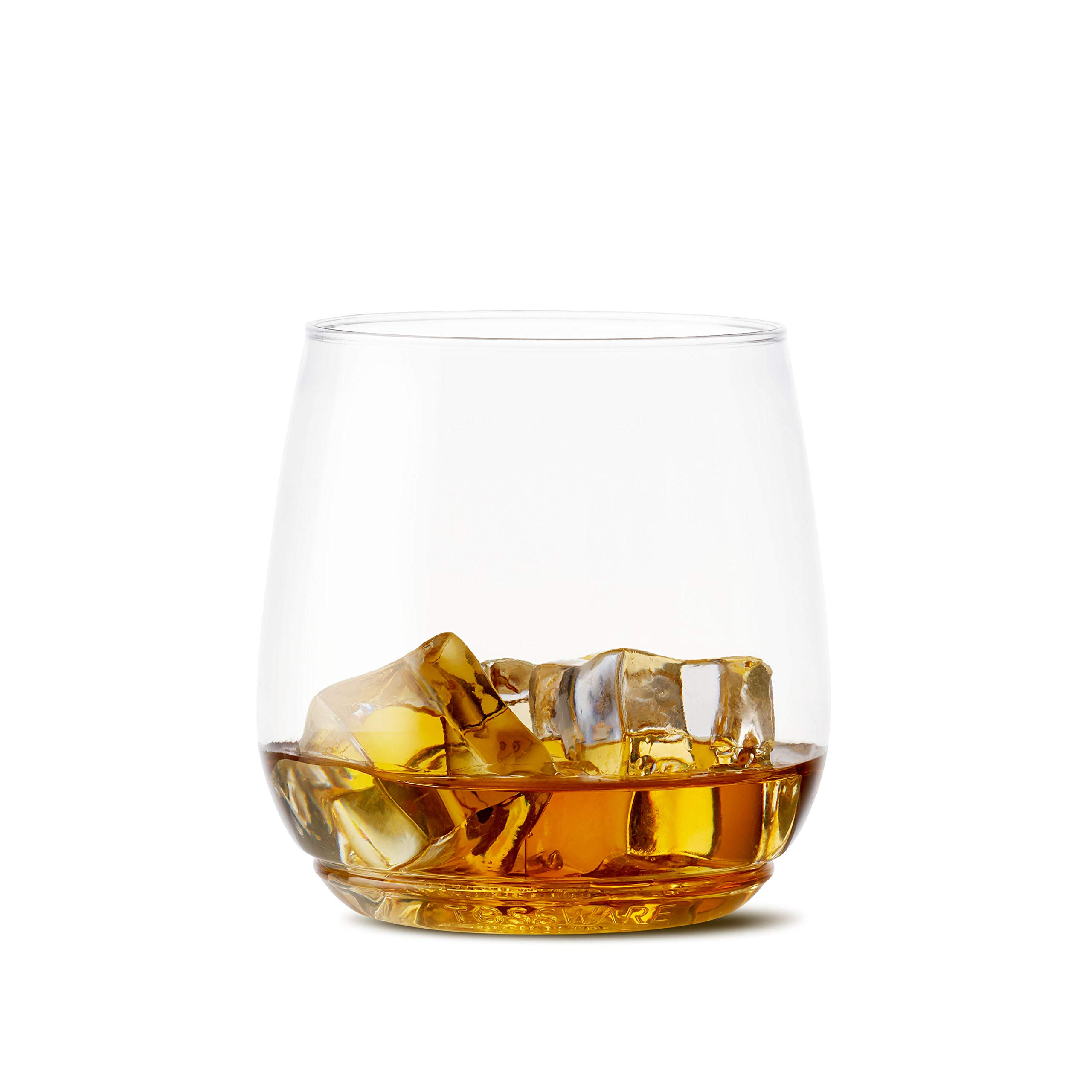TOSSWARE 12oz Tumbler Jr - recyclable cocktail and whiskey plastic cup - SET OF 48 - stemless, shatterproof and BPA-free whiskey glasses by TOSSWARE