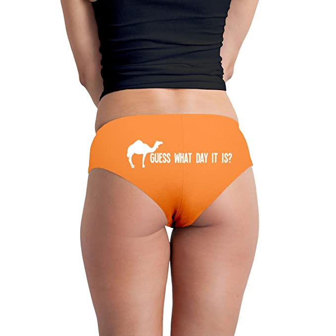 Guess What Day It Is Camel Hump Day Parody Funny Women's Boyshort Underwear  Panties - Orange