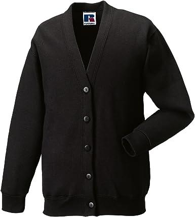 Jerzees School Gear Kids Uniform Cardigan V Neck 5 button Closing Front Sweaters