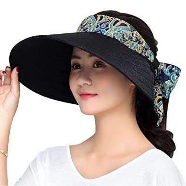 9221016f VBIGER Women's Wide Brim Sun Hat UV Visor Hat Summer Hats: Amazon.co ...