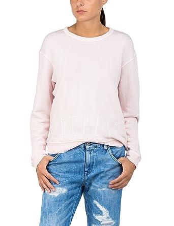 e59fb75b0d Replay W3014 .000.22514 Sweat-Shirt, Light Rose 709, X-Small Femme