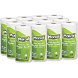 "Marcal Paper Towels U-Size-It Sheets 2 Ply 140 Sheets Per Roll 100% Recycled - 12 ""Roll Out"" Rolls Per Case Green Seal Certified Paper Towel Rolls 06183"