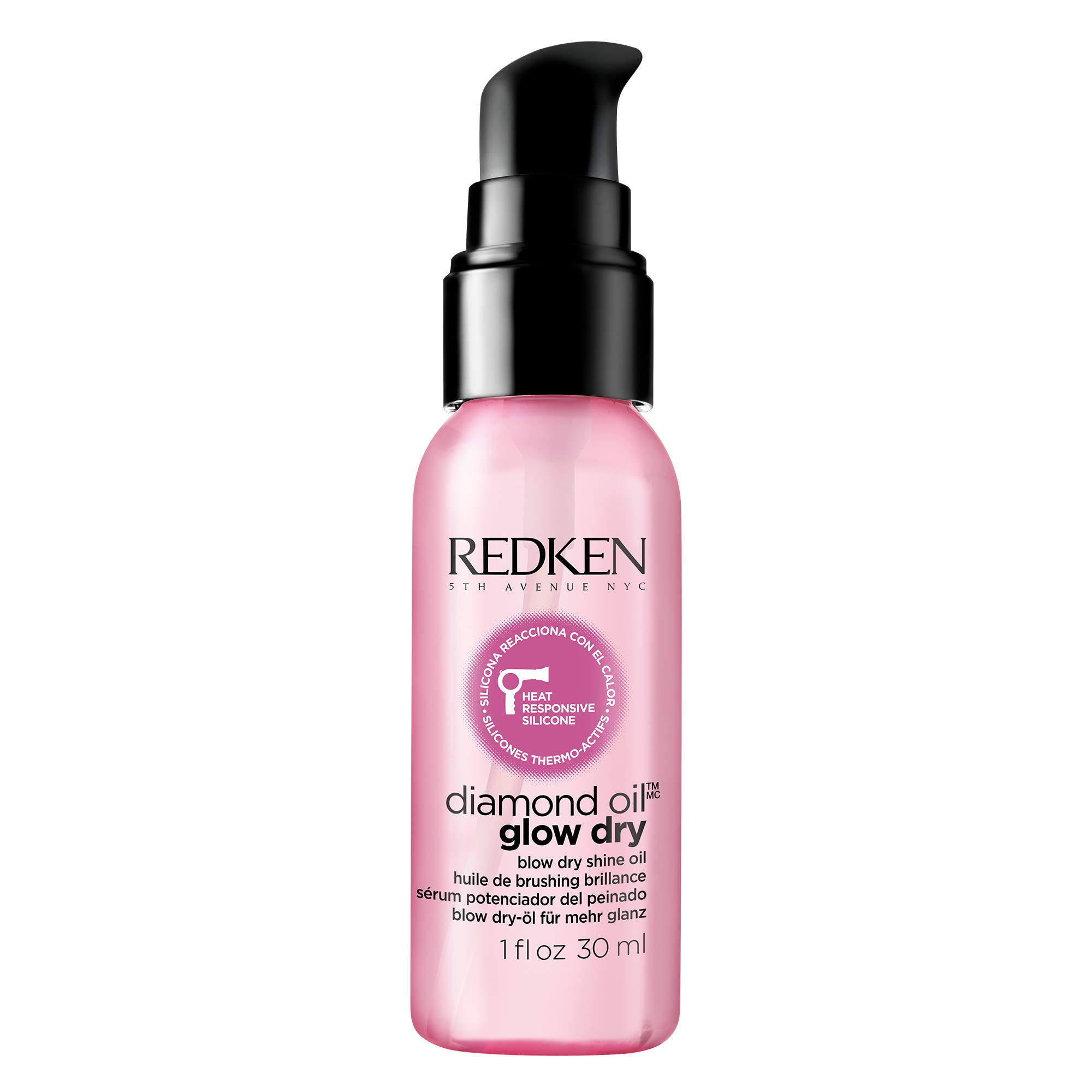 Redken Diamond Oil Glow Dry | For All Hair Types | Style Enhancing Oil Adds Shine & Protects From Heat Damage
