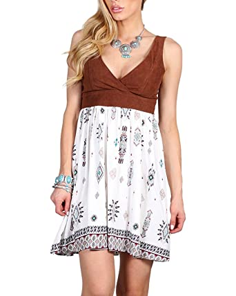 Shyanne Womens Tribal Print Dress Multi X Small At Amazon