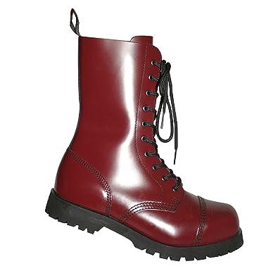 Boots  Braces Stiefel 10-Loch Rangers Cherry Rot