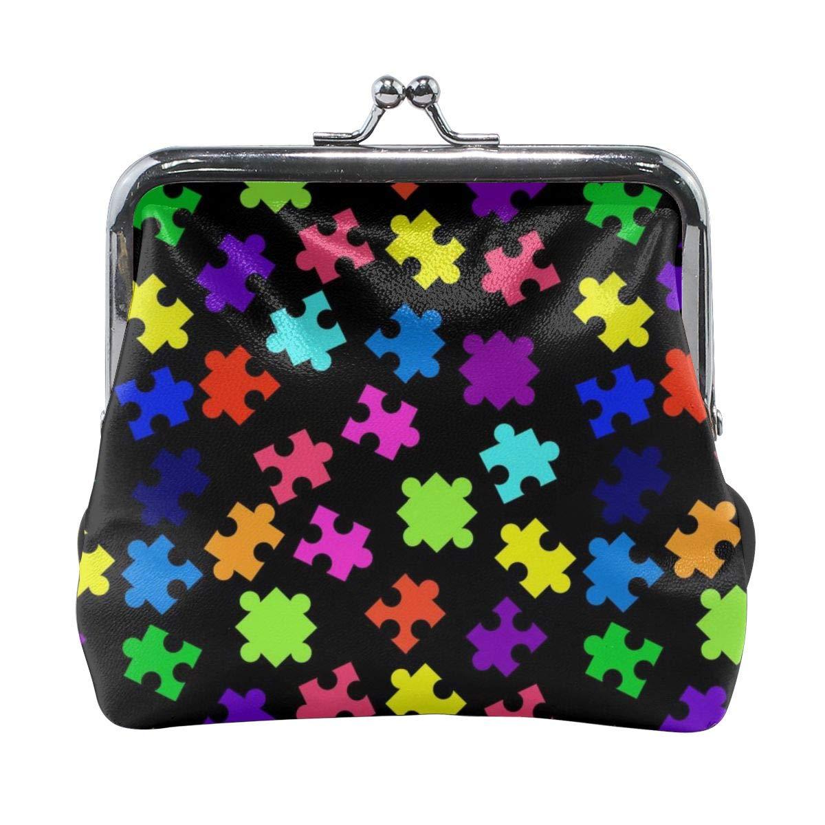 Colorful Puzzle Pieces Cute Buckle Coin Purses Buckle Buckle Change Purse Wallets