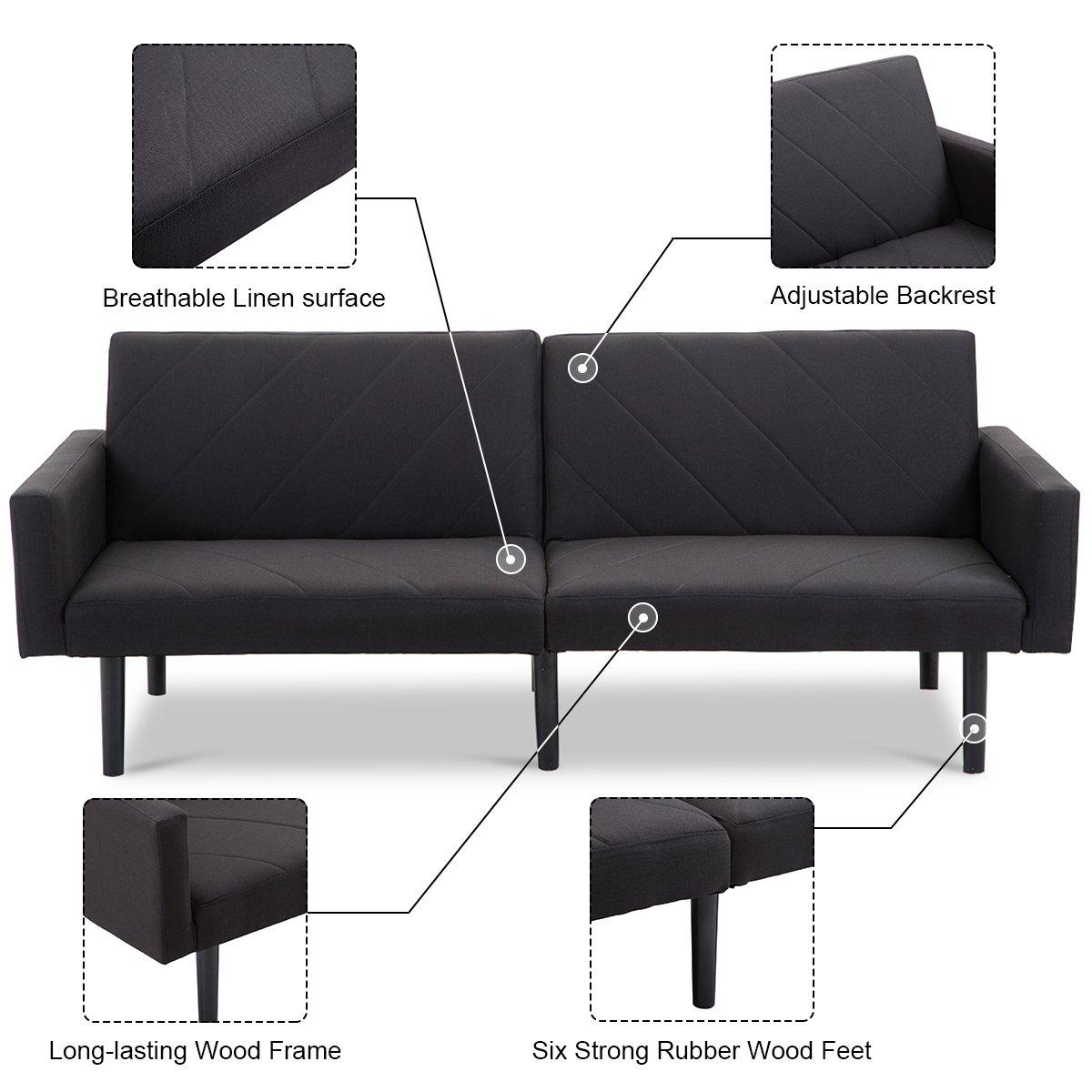 Amazon.com: Giantex futón sofá cama convertible reclinable ...