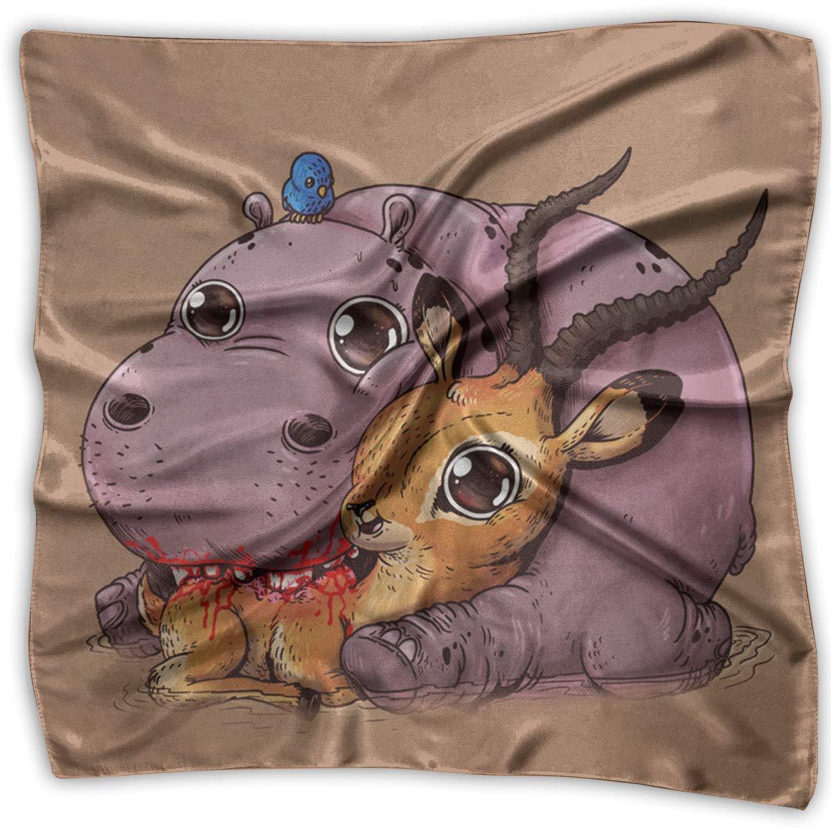 Square Scarf Poor Deer Head /& Neck Unisex Head /& Neck Tie For Woman