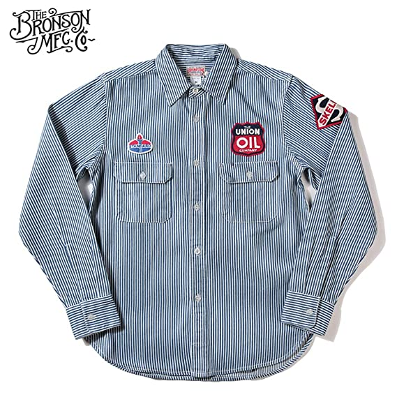 Men's Vintage Workwear – 1920s, 1930s, 1940s, 1950s Gas Station Bronson Mens 9OZ Medium Weight Old Gas Station Winchman Skelly Service Long Sleeves Shirt $49.99 AT vintagedancer.com