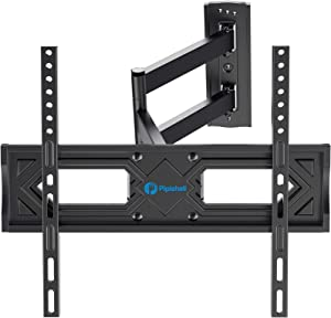 Full Motion TV Wall Mount, Heavy Duty Single Articulating Arms TV Bracket for Most 26-55 Inch Flat Curved TVs, Up to VESA 400x400mm and 99lbs, Support Swivel, Tilt, Level Adjustment by Pipishell