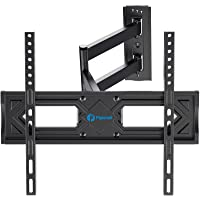 Full Motion TV Wall Mount, Heavy Duty Single Articulating Arms TV Bracket for Most 26-55 Inch Flat Curved TVs, Up to…