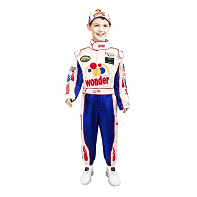 Ricky Bobby Kids Child Jumpsuit + Cap Full Costume Talladega Nights: Clothing