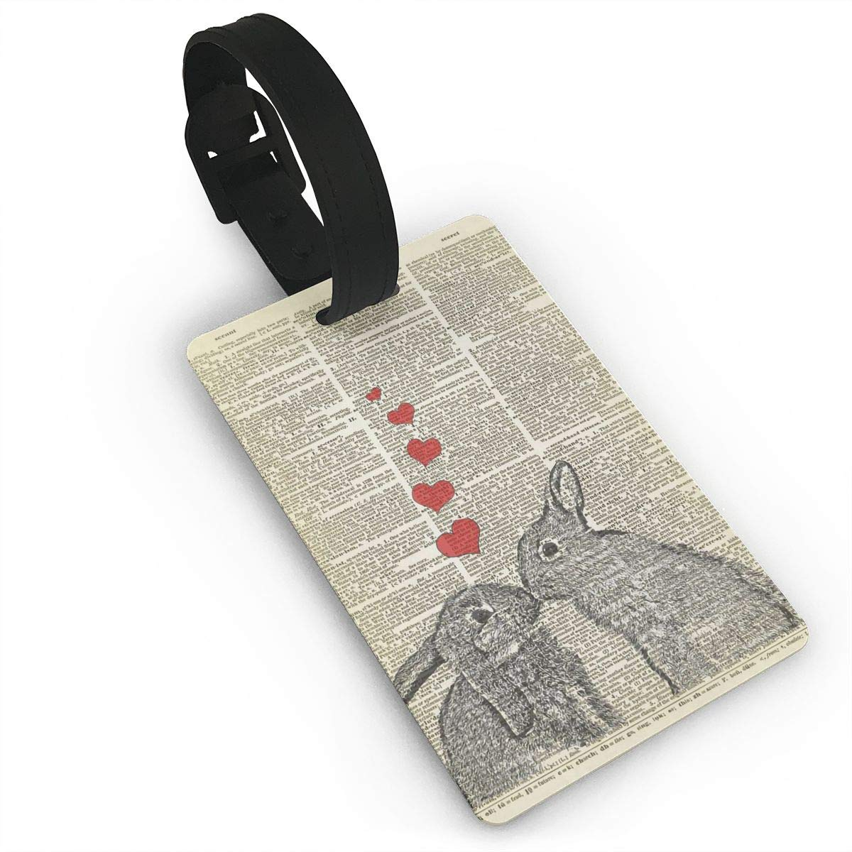 Two Bunnies In Love Cruise Luggage Tag For Travel Tags Accessories 2 Pack Luggage Tags
