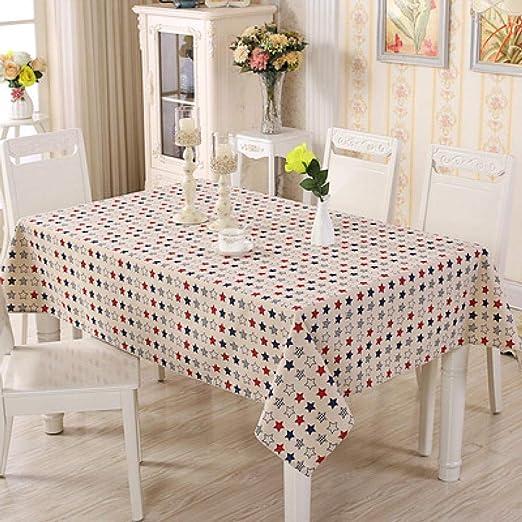 QIGE Manteles Mantel Mantel De Algodón Moderno Impreso Mantel Rectangular Mesa De Comedor Cubierta De Tela Mesa De Té De Café Decoración del Hogar @ Color_1_60 * 60Cm: Amazon.es: Jardín