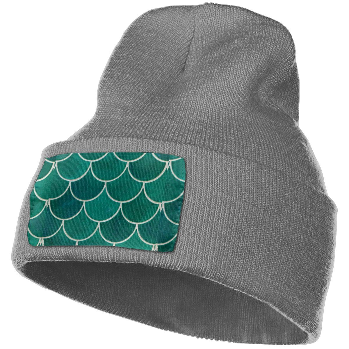 WHOO93@Y Mens and Womens 100/% Acrylic Knitting Hat Cap Fish Scales Warm Skull Beanie