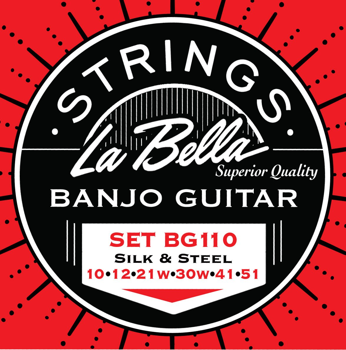 LaBella BG110 Stainless Steel Banjo Strings, Light