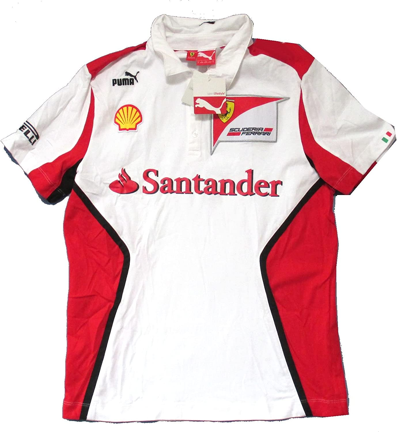 Ferrari Scuderia Puma SF Equipo Color Blanco Polo Camiseta Adulto ...