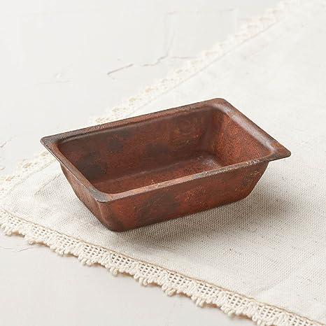 6 Mini molde de metal oxidado estilo sartenes para mostrar, manualidades y decoración