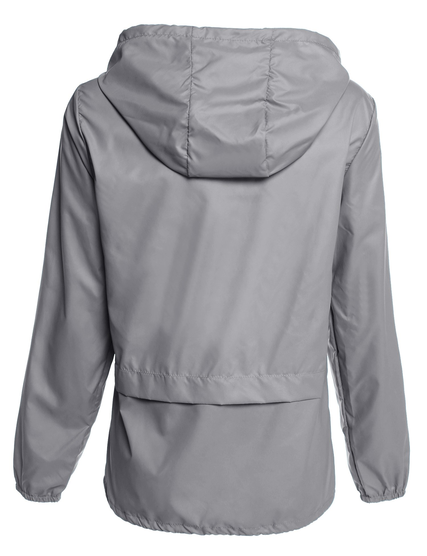 Beyove Women's Lightweight Rain Jacket Active Outdoor Waterproof Packable Hooded Raincoat by Beyove (Image #3)