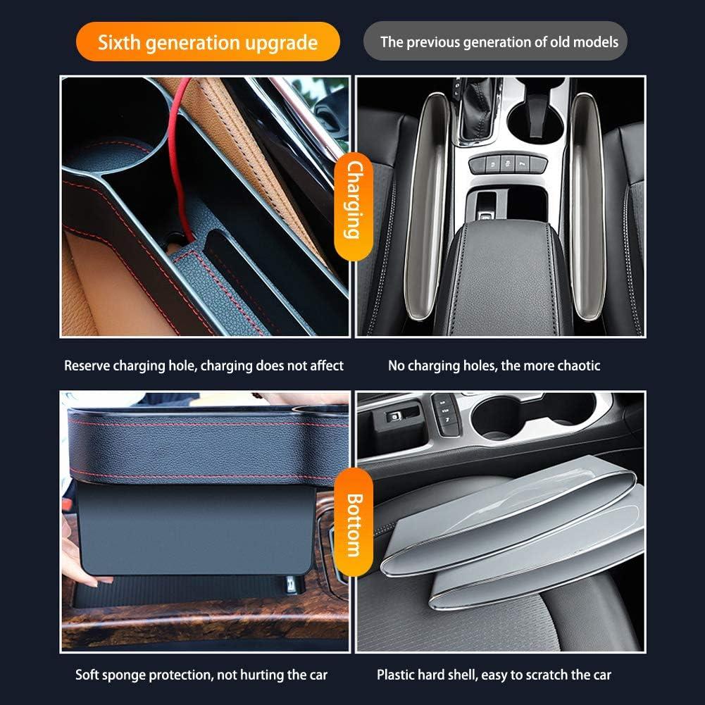 MOOHOP Auto Aufbewahrungsbox Organizer Sitzl/üCke Kunststoffkoffer Taschenseite F/üR Telefonm/üNzen Schl/üSsel,Autositz Gap Organizer Langlebig Und Praktisch Zu Bedienen