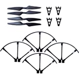 F100 & F100 Ghost Drone Parts Crash Pack - Propellers, Prop Guards & Landing Gear - Spare Parts Kit Also Compatible w/ MJX B3 Bugs 3 Quadcopter