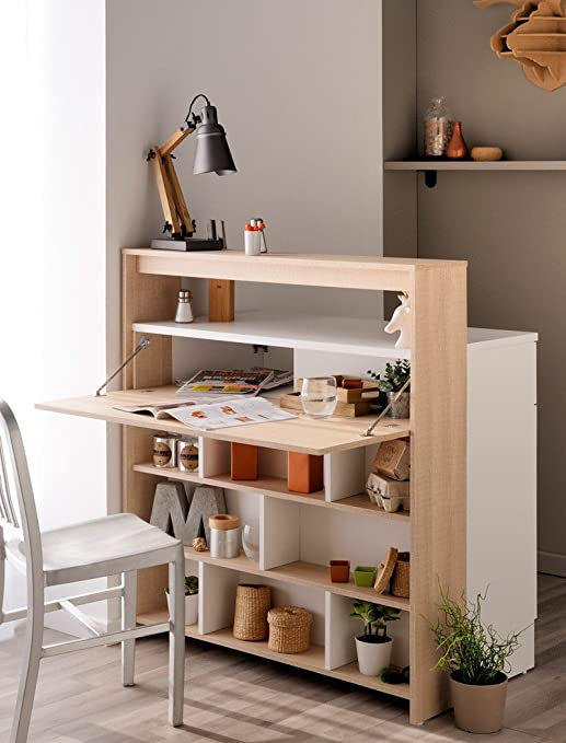Comedor con mesa plegable Kendra 2 104 x 115 x 59 cm de madera de ...