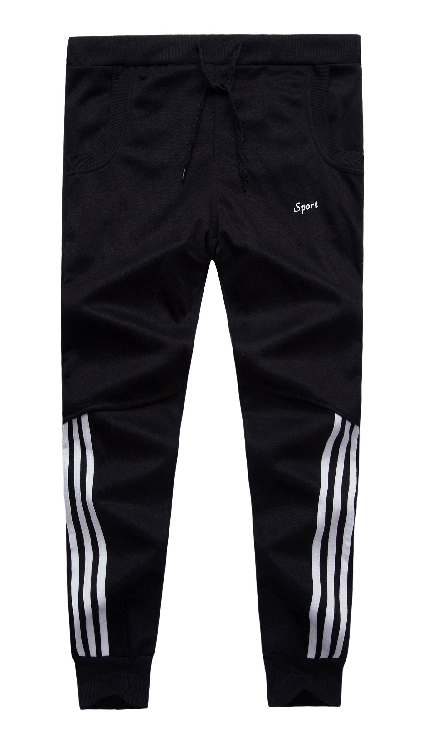 Grimgrow Boy's Pull On Basic Jogger Pants Sport Running Shorts Trousers Black 6