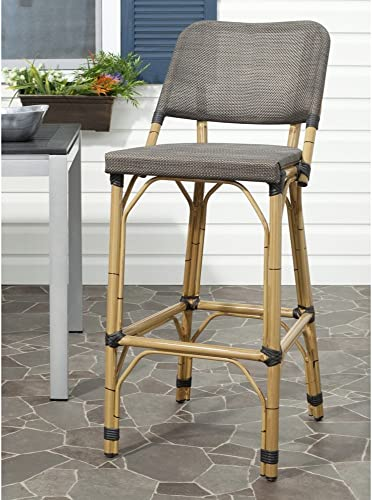 Safavieh Home Collection Deltana Brown Indoor Outdoor 29.5-inch Bar Stool