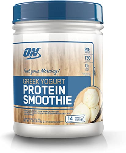 Optimum Nutrition Greek Yogurt 14 Servings Protein Smoothie, Vanilla, 1.02 Pound