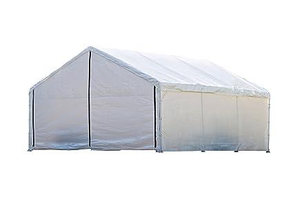 ShelterLogic SuperMax Canopy Enclosure Kit, White, 18 × 20 ft. (Frame and - Amazon.com: ShelterLogic SuperMax Canopy Enclosure Kit, White, 18