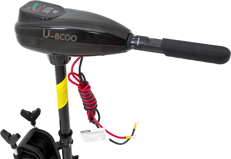 U-BCOO 8 Speed Saltwater Transom Mounted Electric Trolling Motor Fishing Boat Outboard Motor Kayak