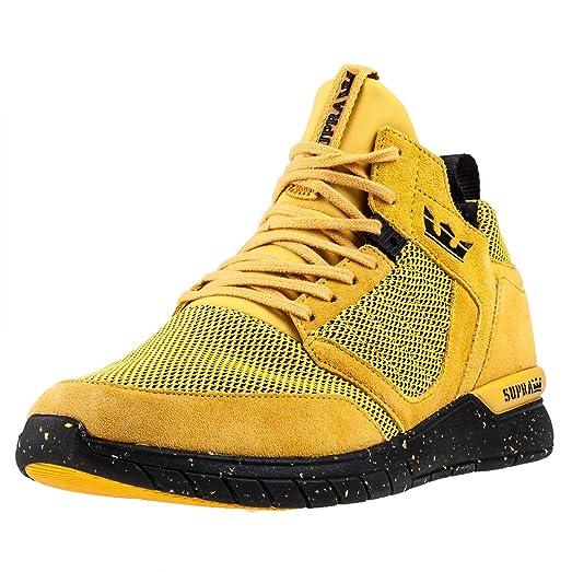 best cheap ed88b 34f1d best supra mens method goldenrod black shoes size 7 014ab 4fa38