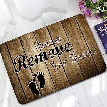 piso baño quita zapatos INICIO antideslizante Alfombra no Nostálgico de que imprimen fieltro tejido tus absorbente Cqwx614B6