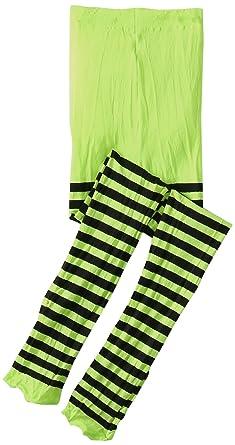 0fb88267427ce Jefferies Socks Little Girls' Stripe Tights, Lime/Black, 2-4 Years